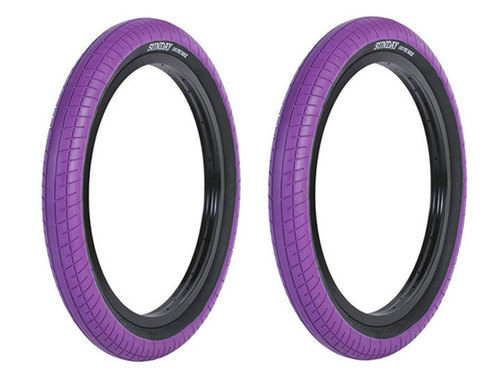 [재입고]SUNDAY STREET SWEEPER BMX TIRE 2.4 -Purple- 2개 패키지
