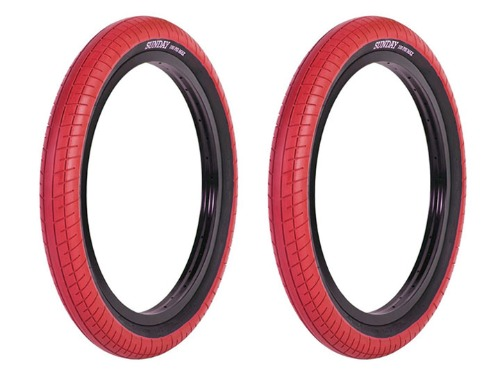 "SUNDAY STREET SWEEPER BMX TIRE 2.4"" Red 2개 패키지"