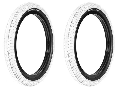"ODYSSEY PATH PRO HP BMX TIRE [DUAL-PLY] 2.4"" WHITE 2개 패키지"